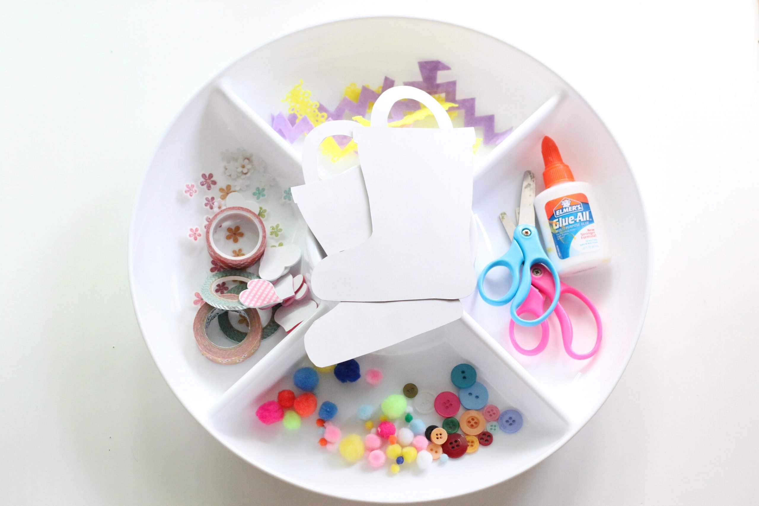 Decorate the Rain Boots Tray