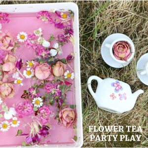 flower tea party play- toddler at play (14)