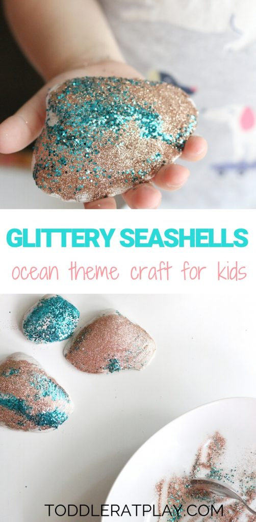 glittery seashells - toddler at play (1)