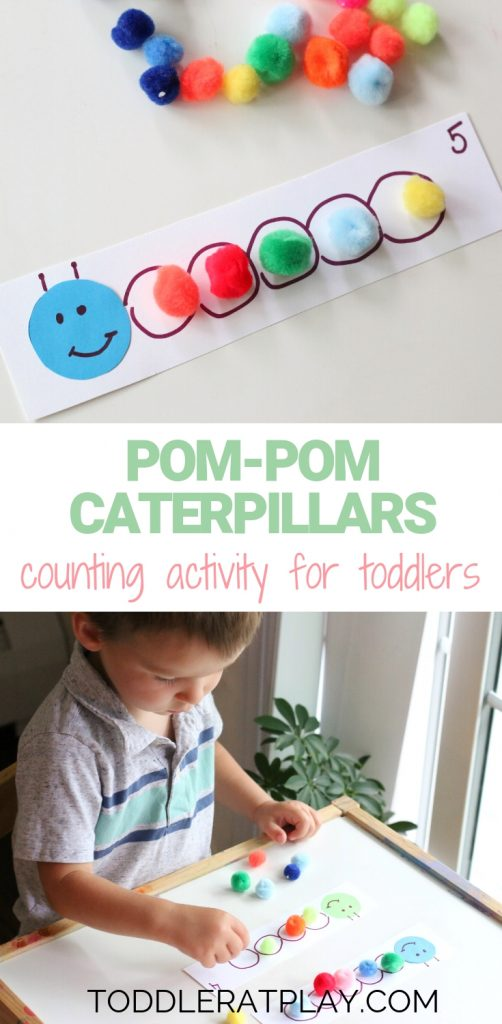 pom-pom caterpillars counting activity- toddlers at play (1)