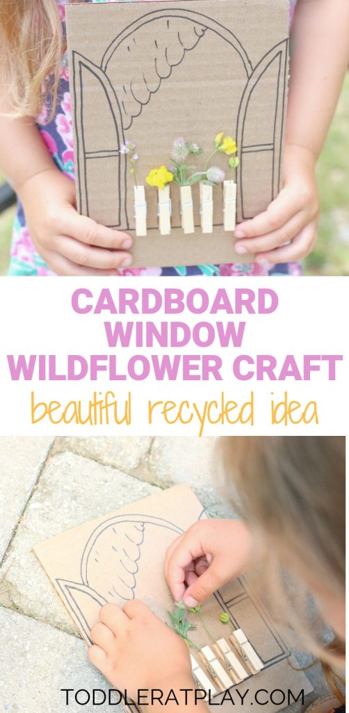 cardboard window wildflower craft- toddler at play (7)
