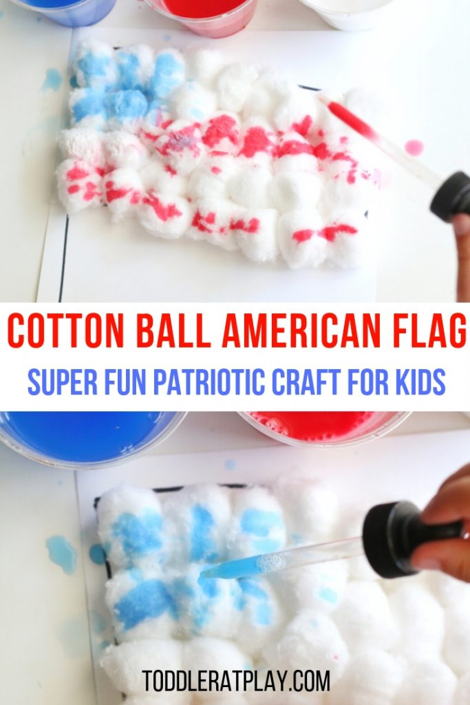 cotton ball american flag- toddler at play (8)