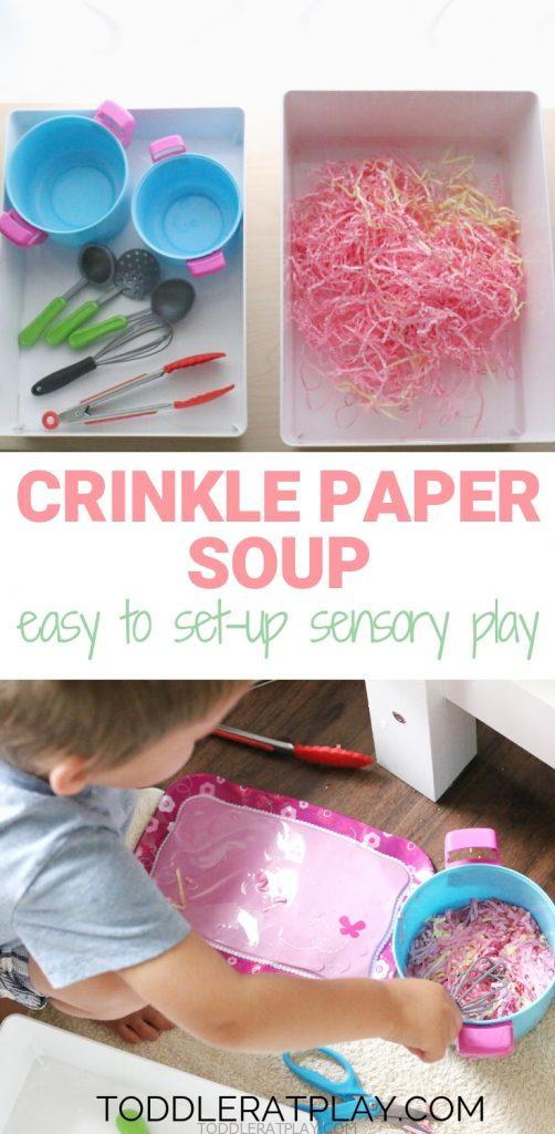 crinkle paper soup - toddler at play (2)