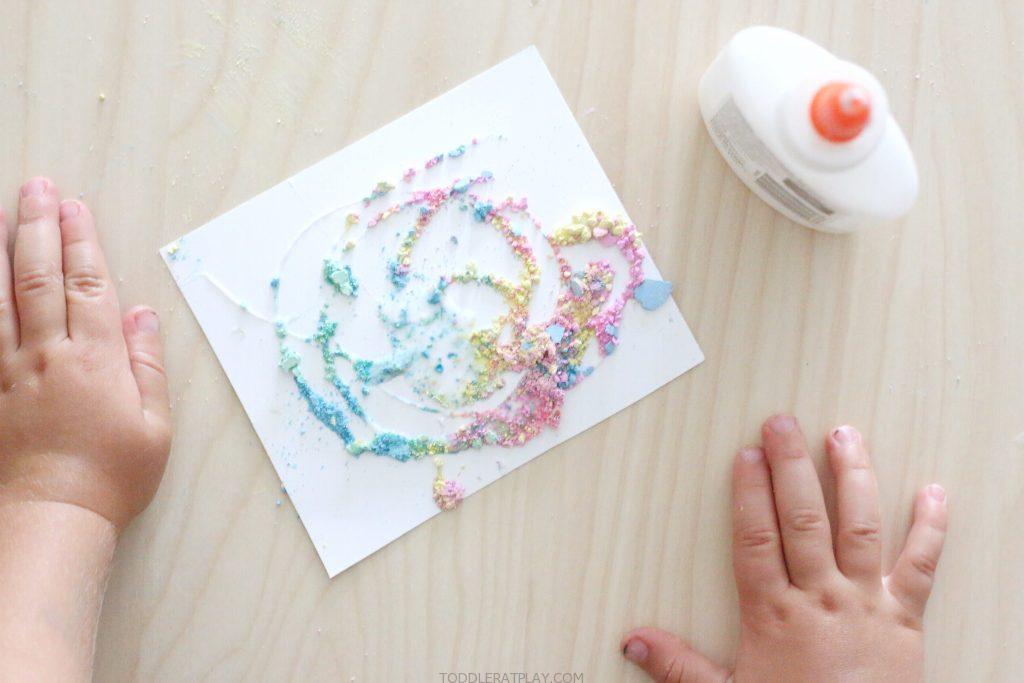 crushed chalk art- toddler at play (7)