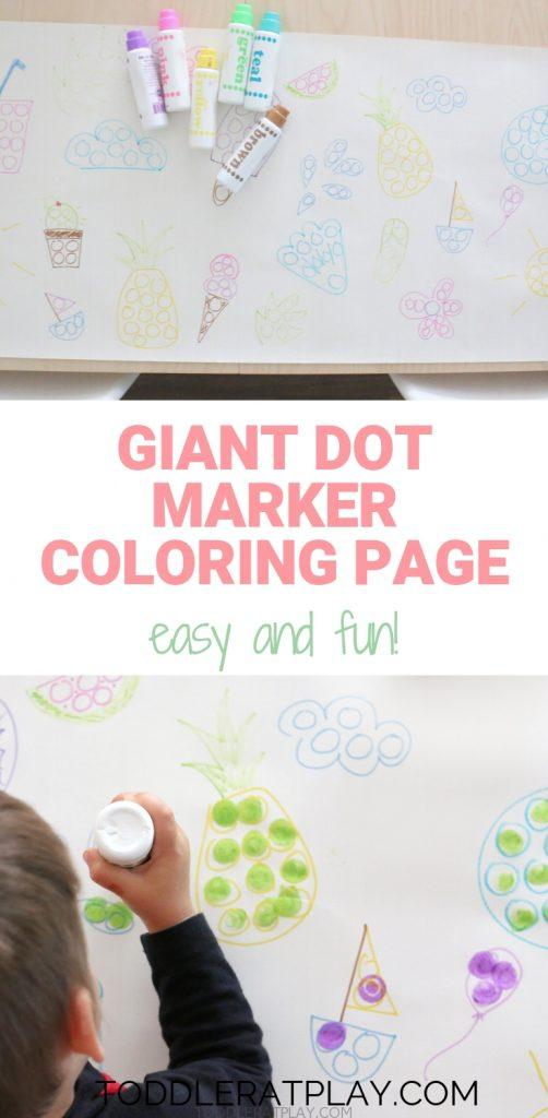 giant dot marker coloring page- toddler at play (4)