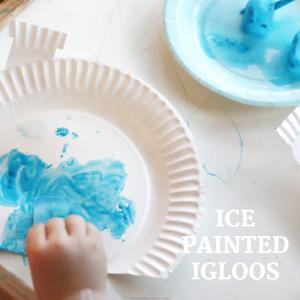 ice painted igloo