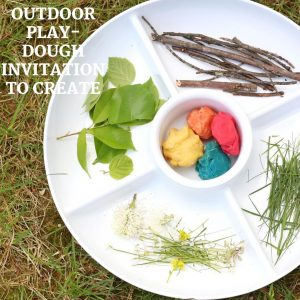 outdoor play-dough invitation to create- toddler at play (4)