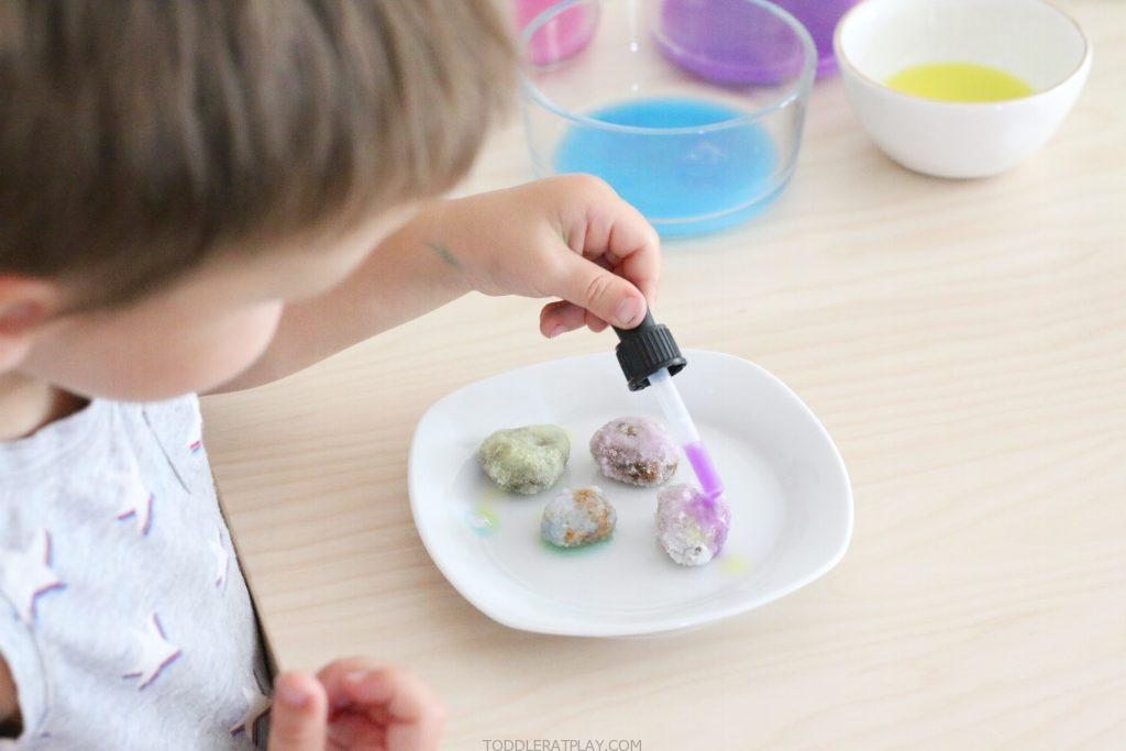 painting salted rock gems- toddler at play (9)