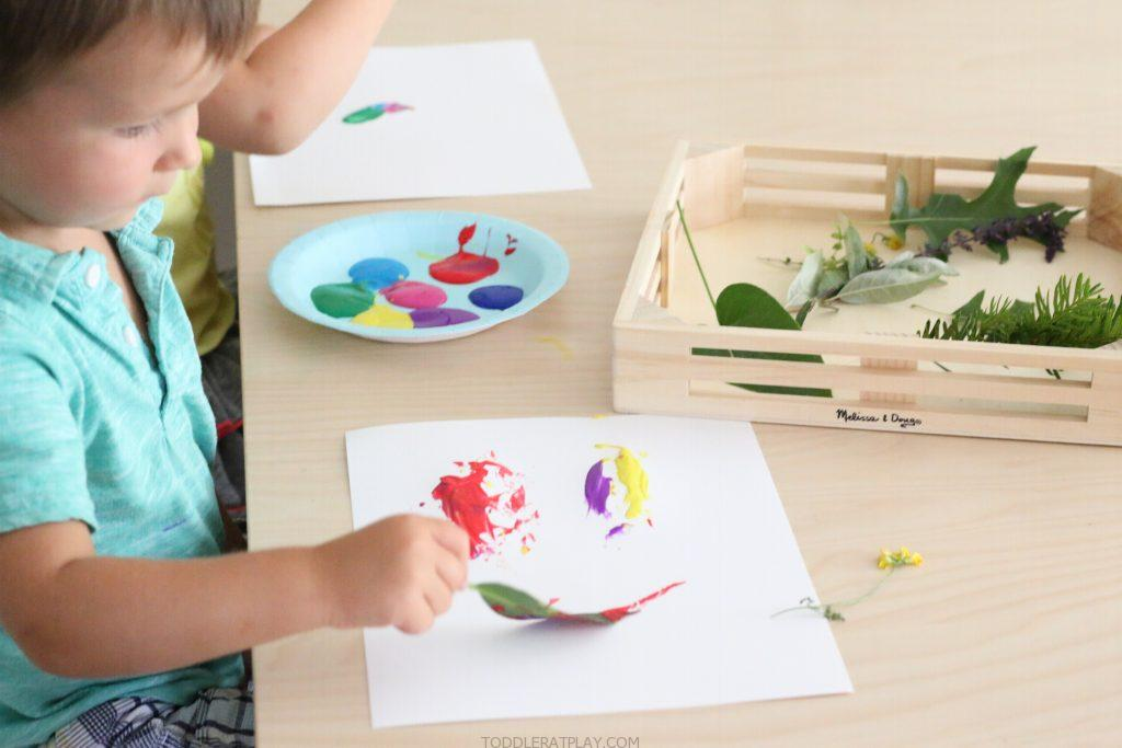 painting with nature- toddler at play (5)
