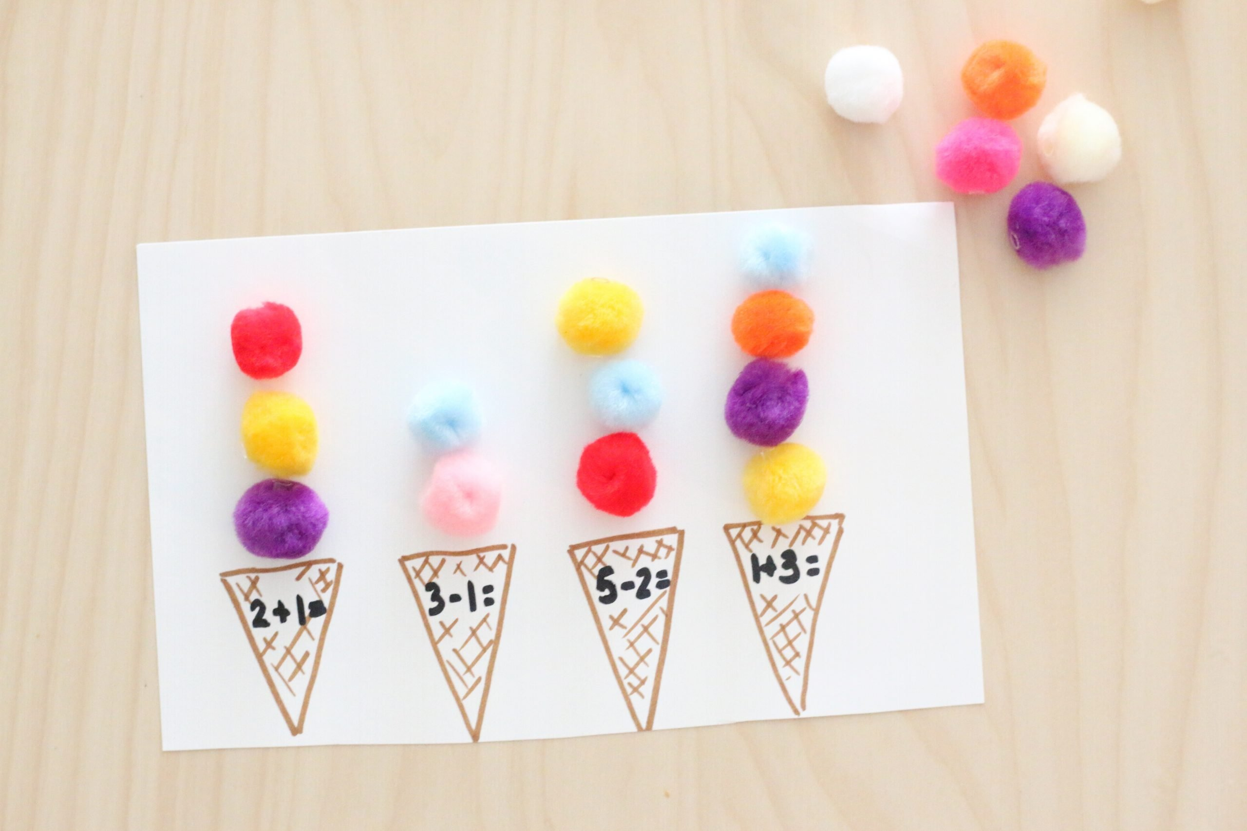 Pom-pom Ice Cream Scoop Math