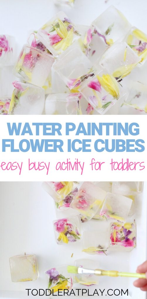water painting flower ice cubes- toddler at play (1)