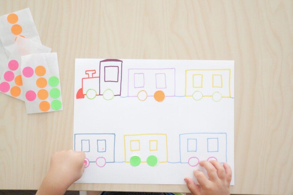 dot sticker train match- toddler at play (6)