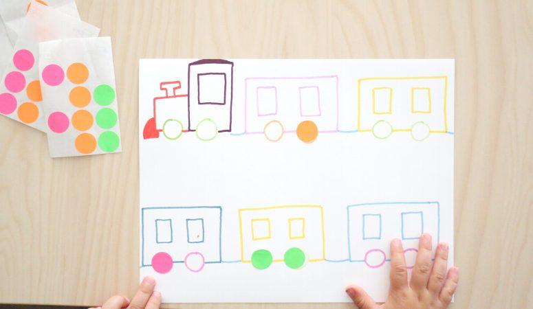 Dot sticker train match