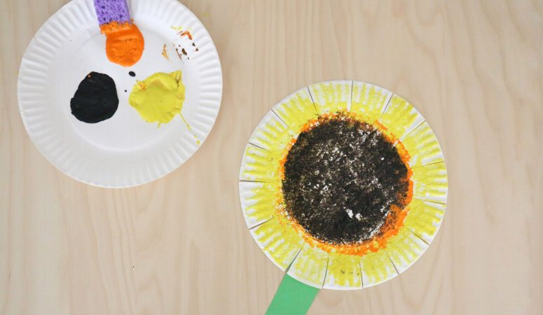 Sponge Painted Sunflower Craft