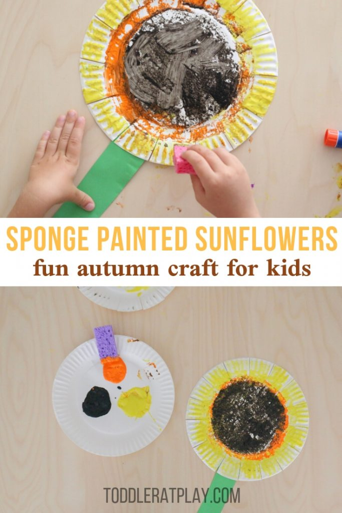 sponge painted sunflower craft- toddler at play (8)