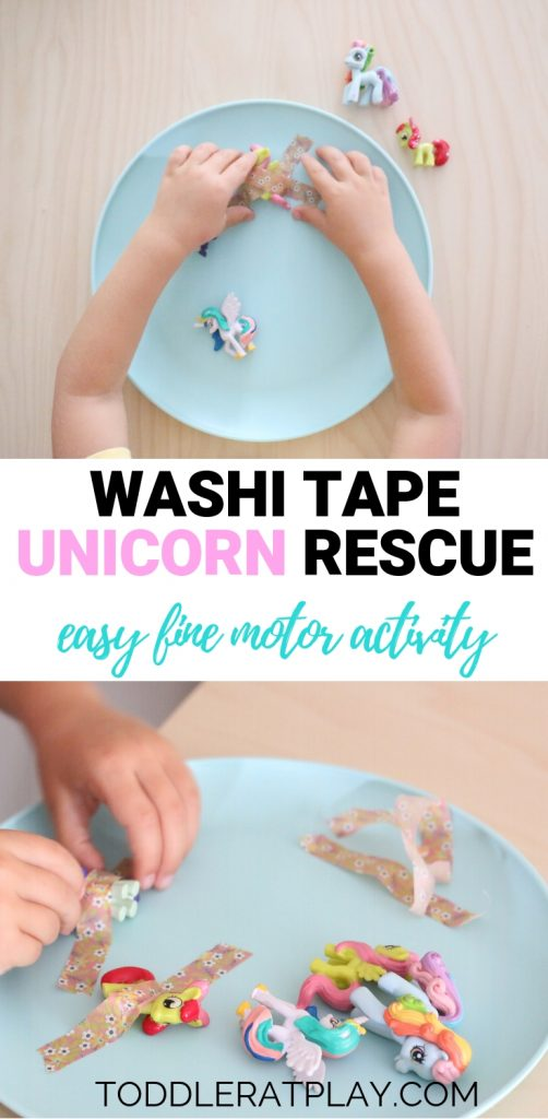 washi tape unicorn rescue- toddler at play (3)