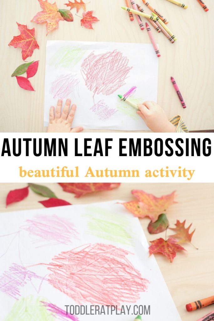 autumn leaf embossing - toddler at play (1)
