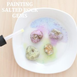 painting salted rock gems - toddler at play (3)