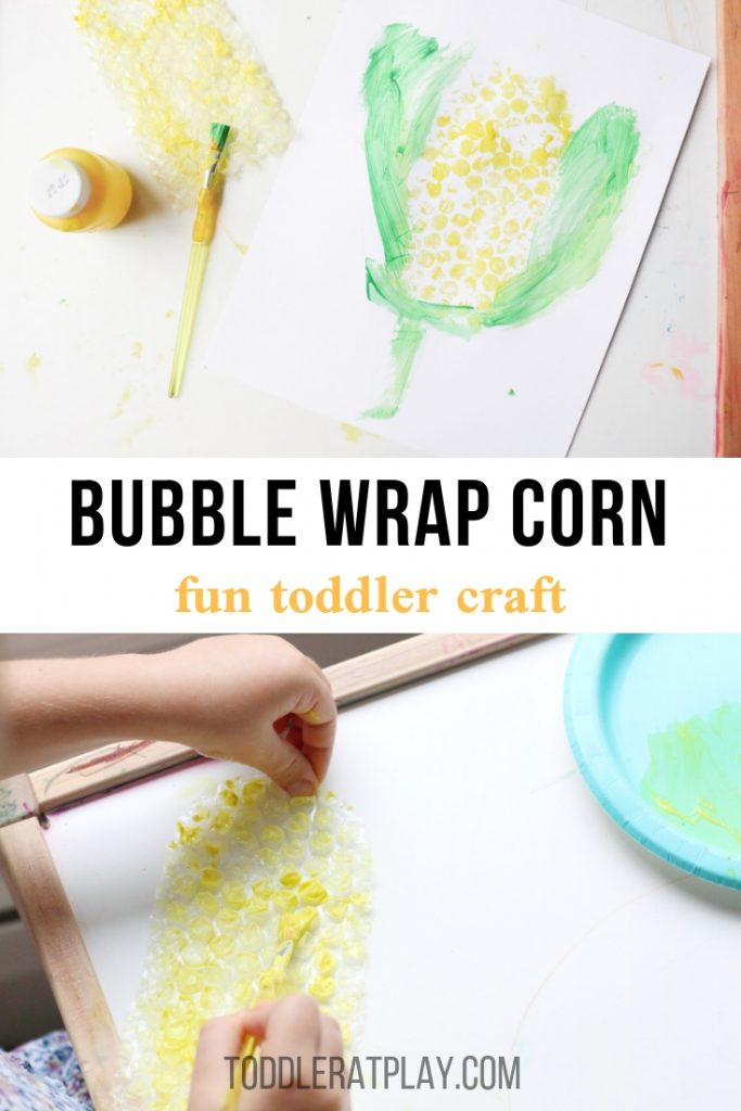bubble wrap corn craft- toddler at play (1)
