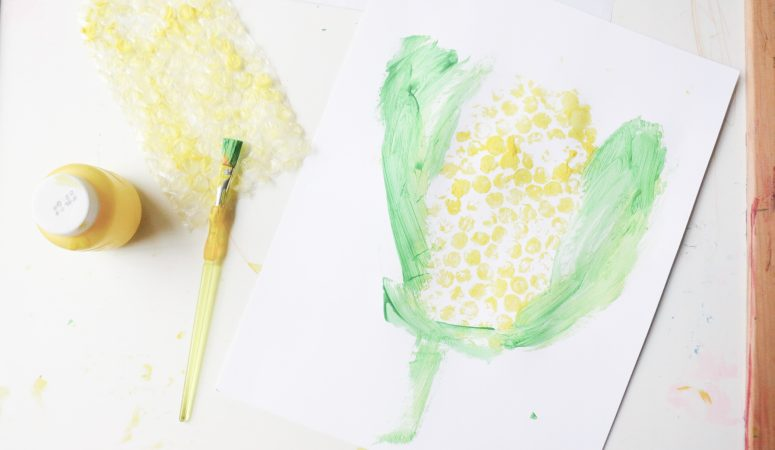 Bubble Wrap Corn Craft