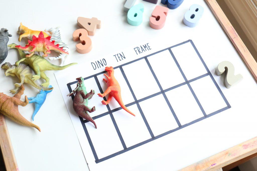 dino ten frame- toddler at play (2)