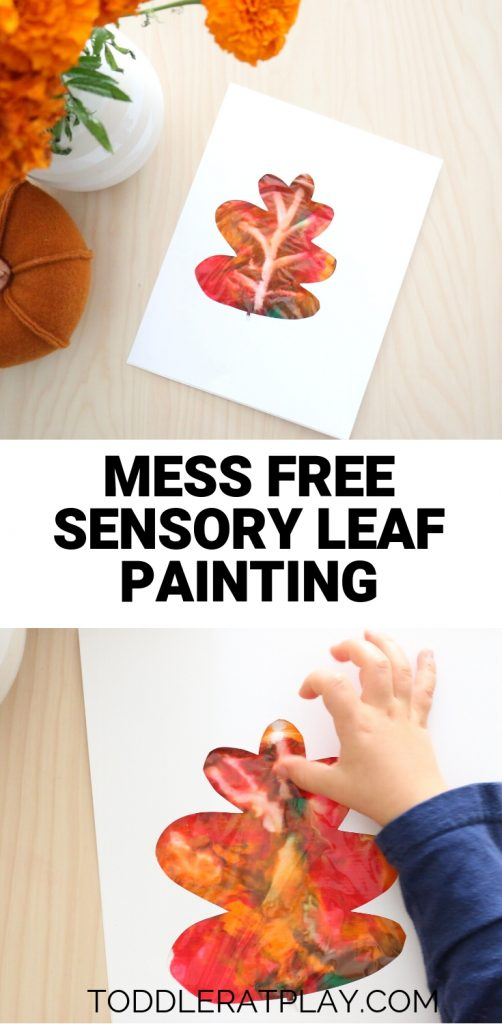mess free sensory leaf painting- toddler at play (3)