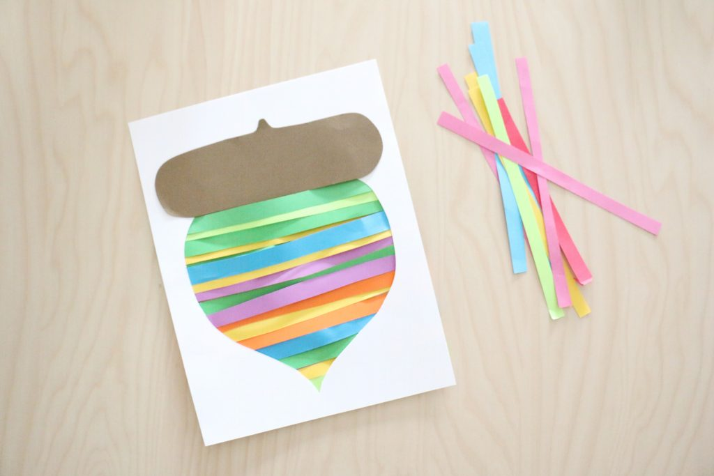 paper strip acorn craft (1)- toddler at play