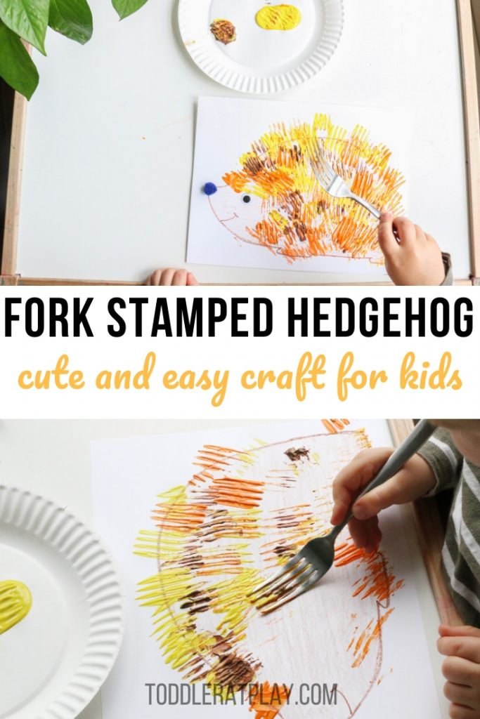 fork stamped hedgehog- toddler at play (2)