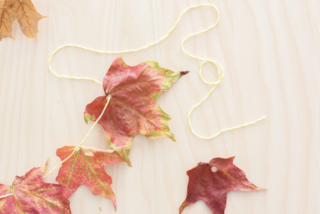 leaf garland- toddler at play (6)
