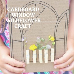 cardboard window wildflower craft- toddler at play (5)