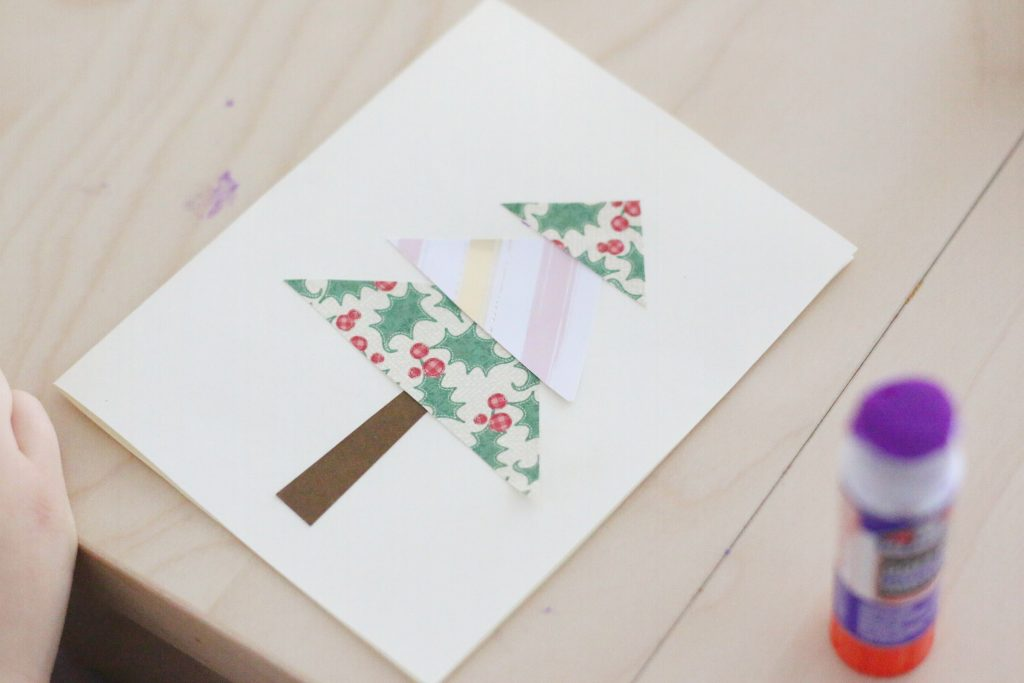 scrap paper christmas tree cards- toddler at play (7)