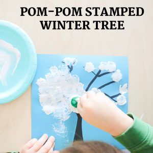 pom-pom stamped winter tree- toddler at play (15)