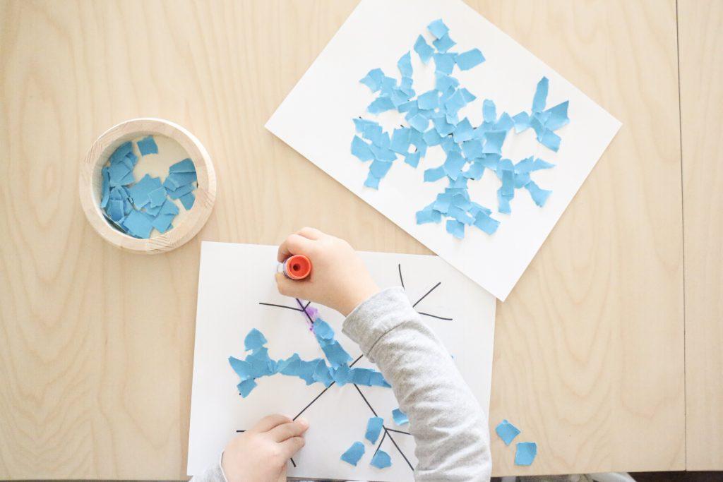 torn paper snowflake- toddler at play (7)