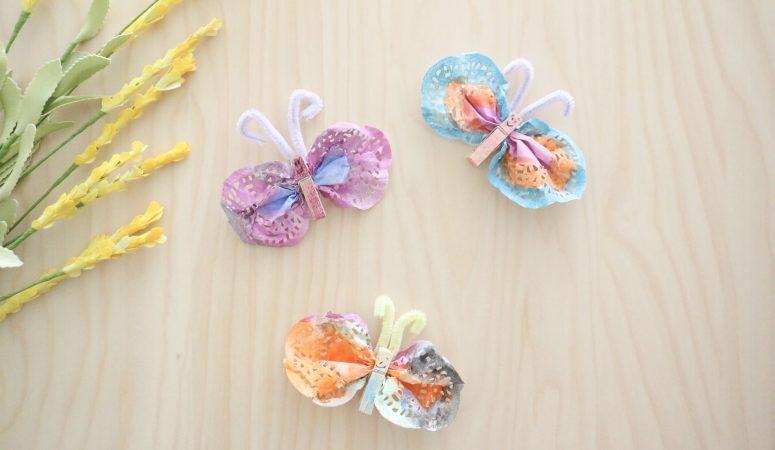 Doily Butterfly Craft