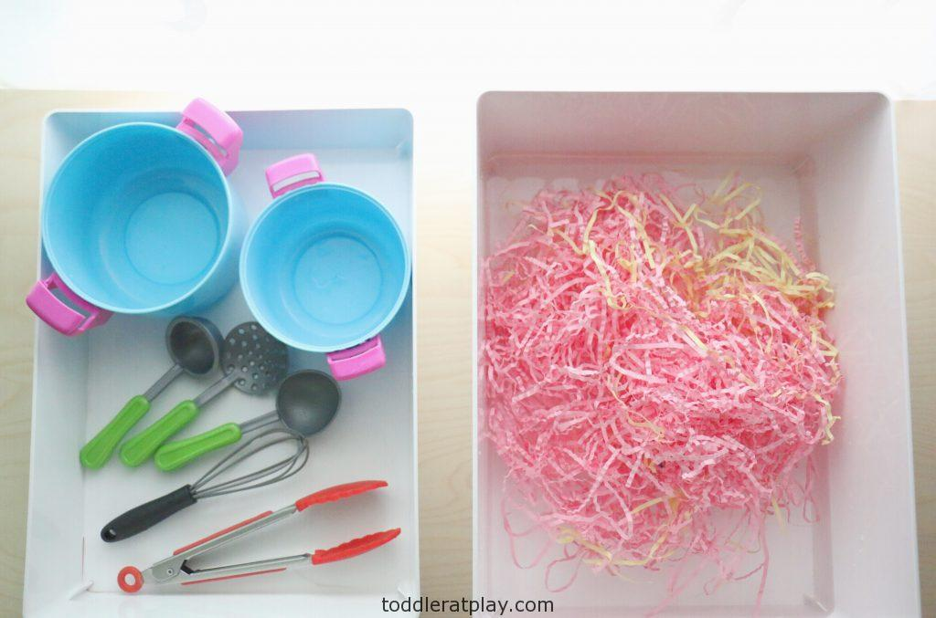 crinkle paper soup- toddler at play (5)