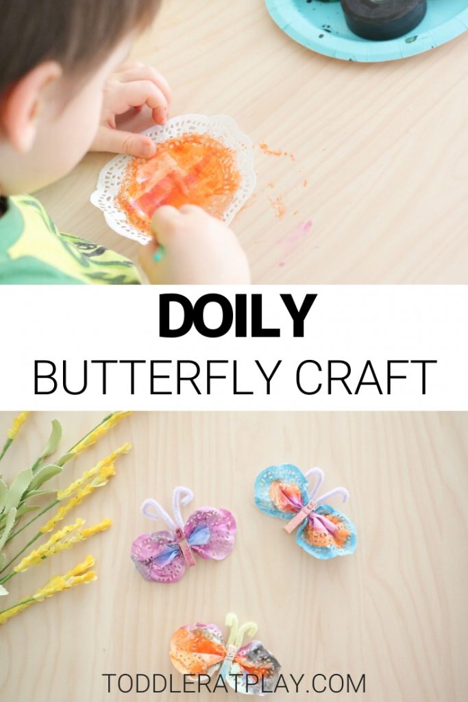 doily butterfly craft-toddler at play (2)