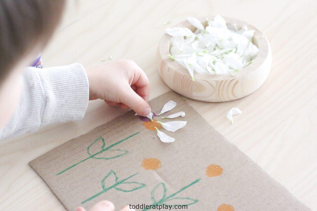 flower petal art- toddler at play (3)