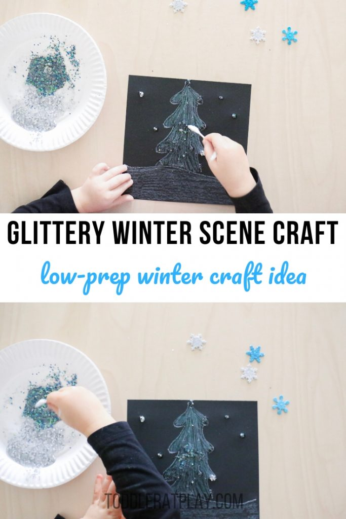 glittery winter scene craft- toddler at play (2)