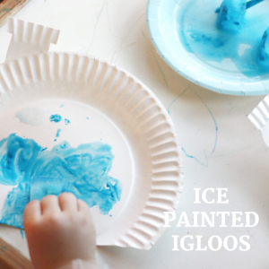 ice painted igloo