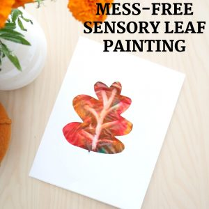 mess free sensory leaf painting- toddler at play (8)