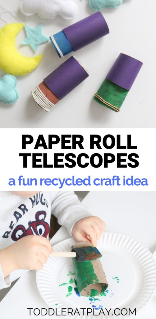 paper roll telescopes- toddler at play