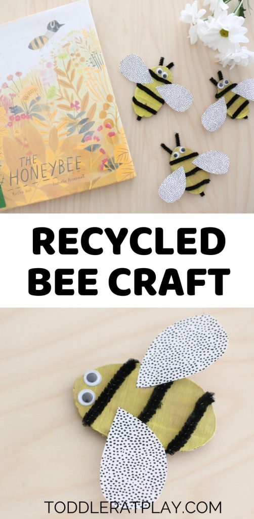 recycled bee craft- toddler at play (2)