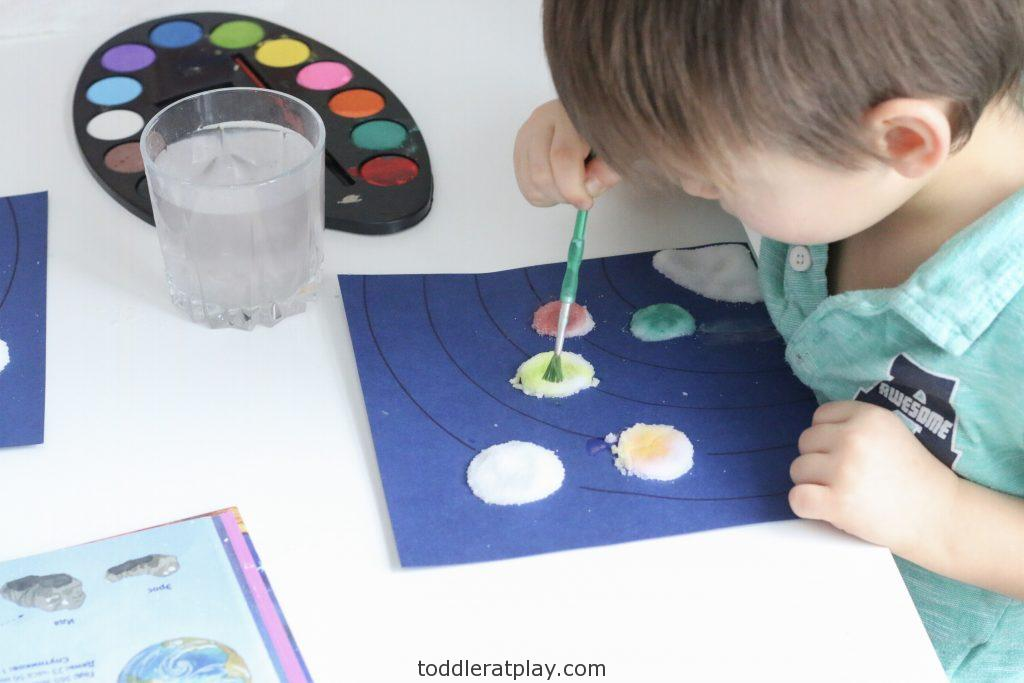 watercolor solar system- toddler at play (6)