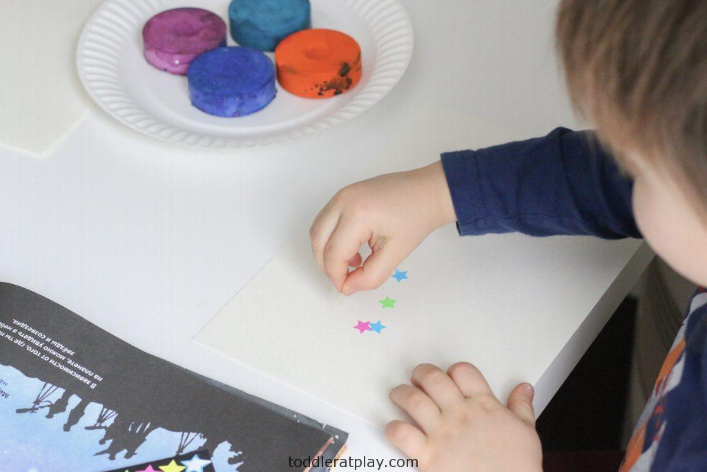watercolor star craft- toddler at play