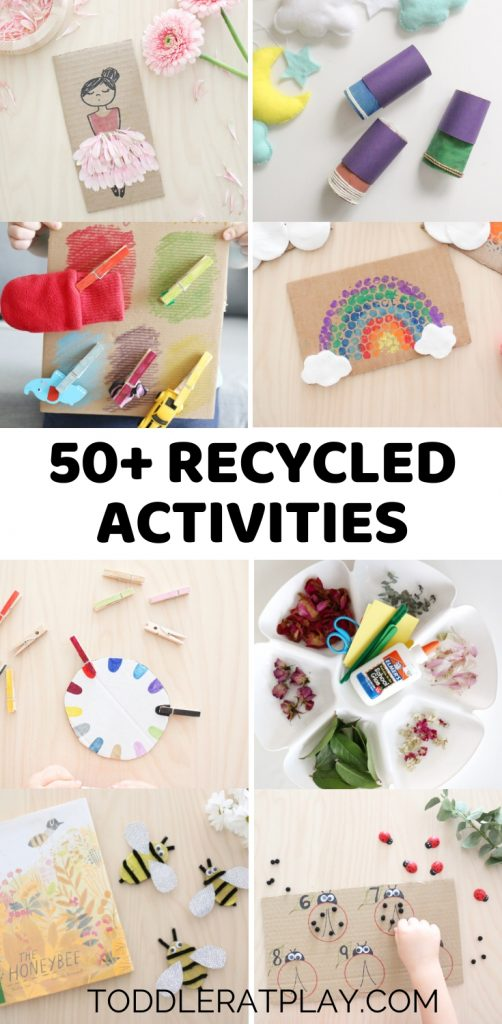 50+ recycled activities- toddler at play