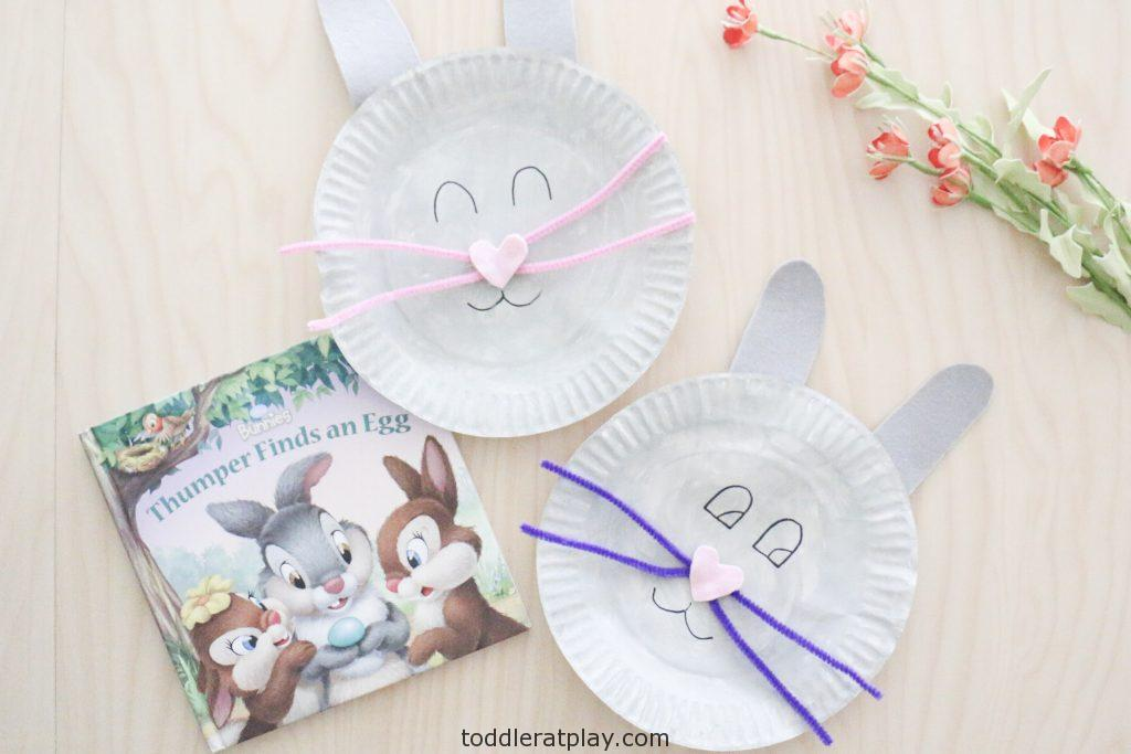 paper plate bunny craft- toddler at play (8)