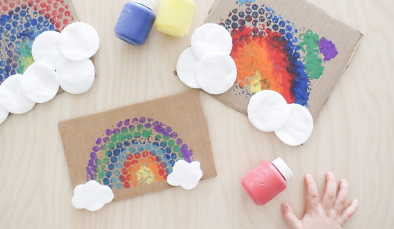 Bubble Wrap Rainbow Craft