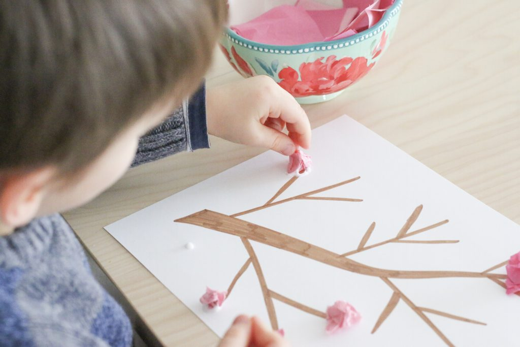 cherry blossom craft-toddler at play