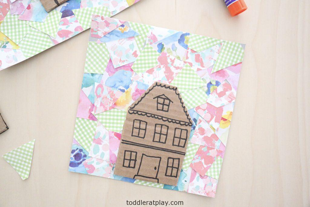 collage house craft- toddler at play (2)