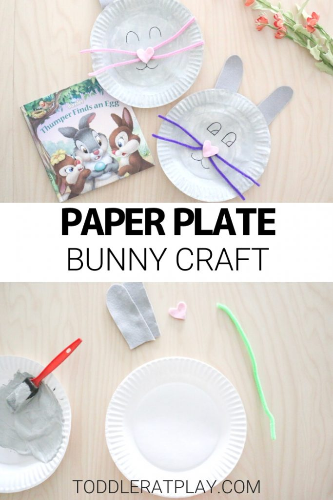 paper plate bunny craft- toddler at play (1)